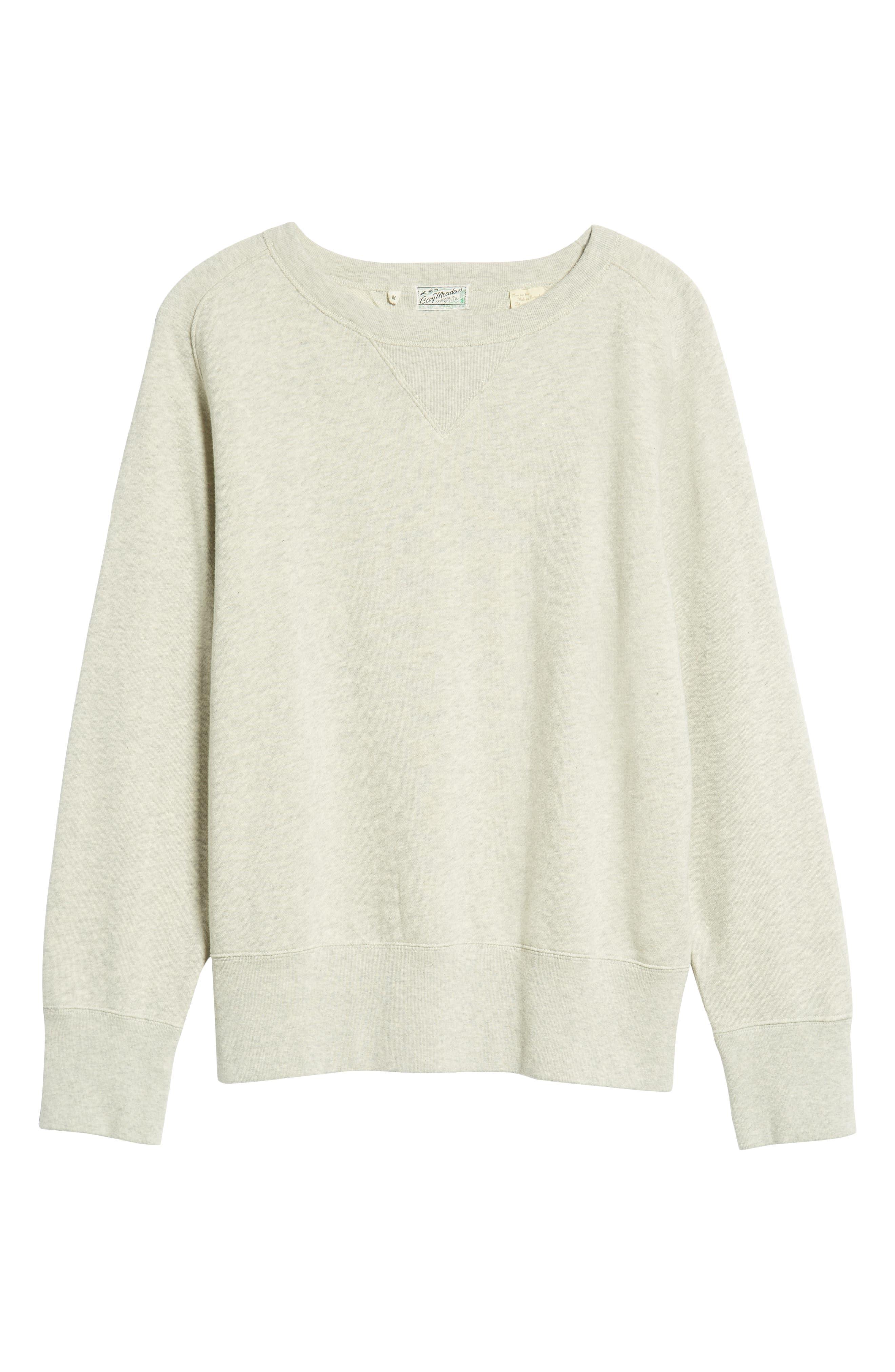 ,                             1930s Bay Meadows Sweatshirt,                             Alternate thumbnail 6, color,                             OATMEAL