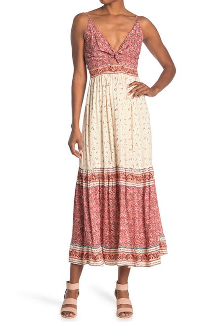 Image of Angie Peek-a-Boo Tiered Maxi Dress
