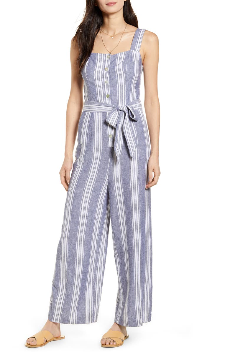 RAILS Kyra Stripe Jumpsuit, Main, color, SEAPORT STRIPE