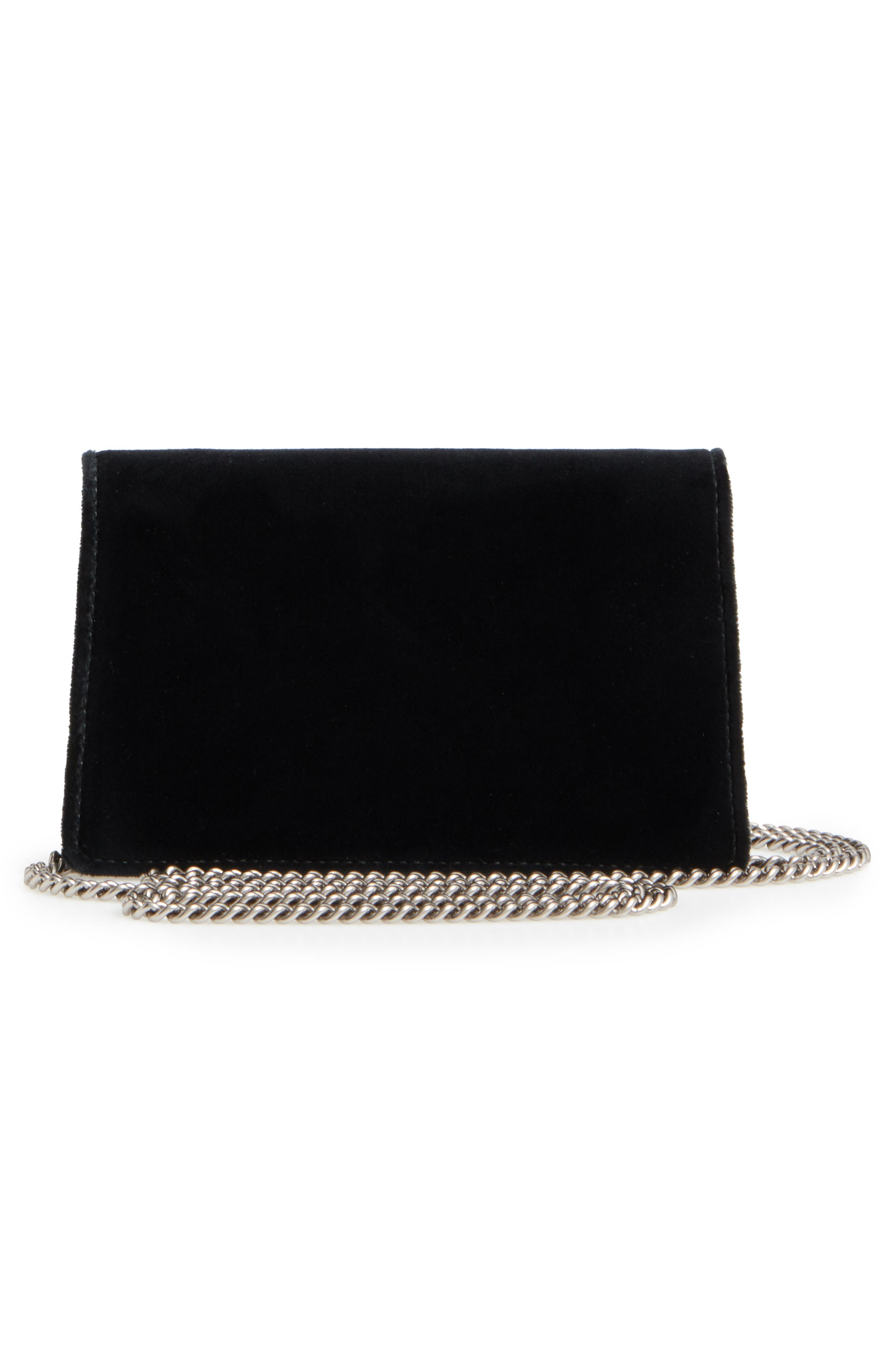 ,                             Super Mini Dionysus Velvet Shoulder Bag,                             Alternate thumbnail 9, color,                             001