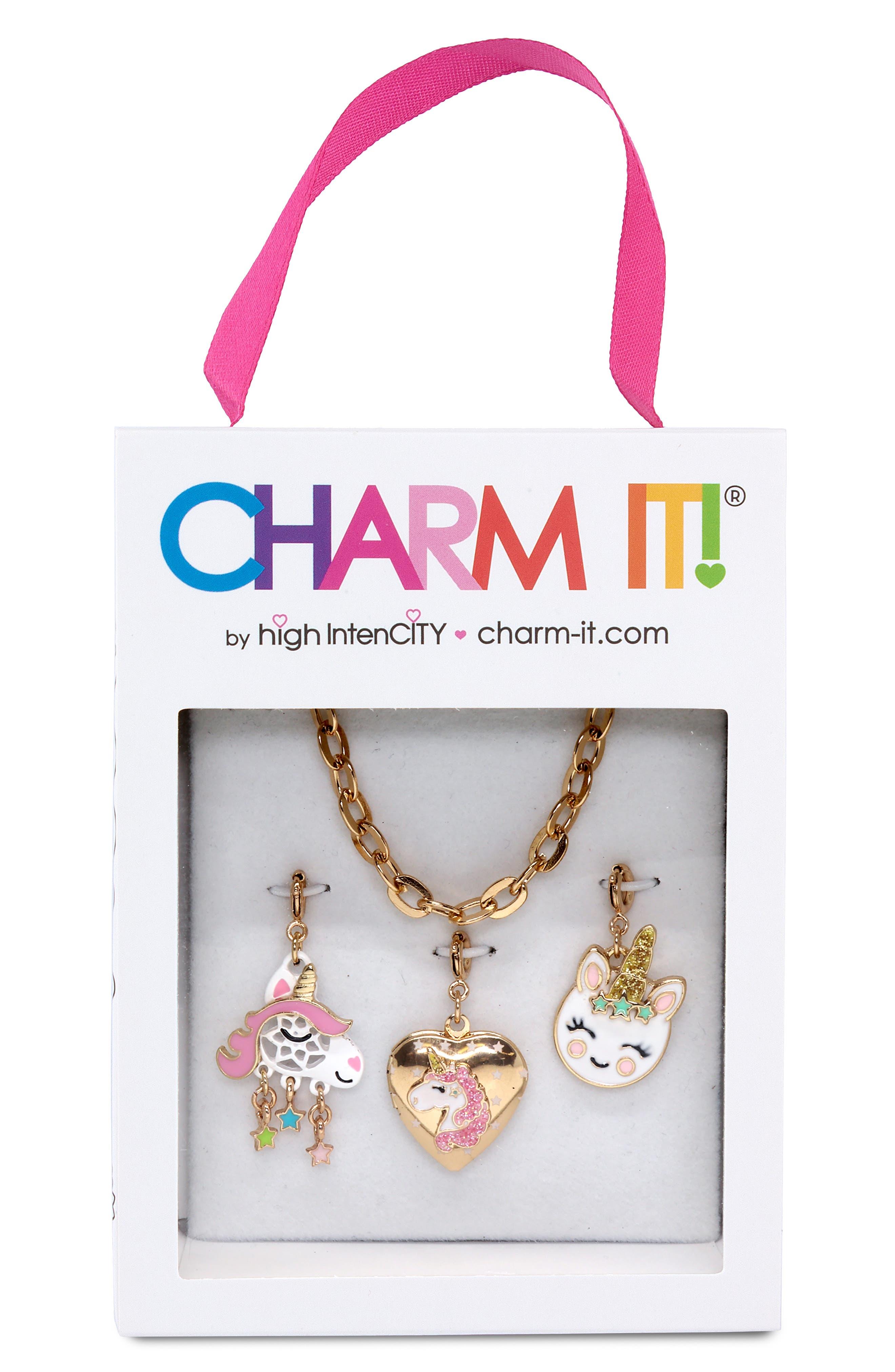 ,                             Unicorn Charm Necklace Gift Set,                             Alternate thumbnail 2, color,                             NO COLOR