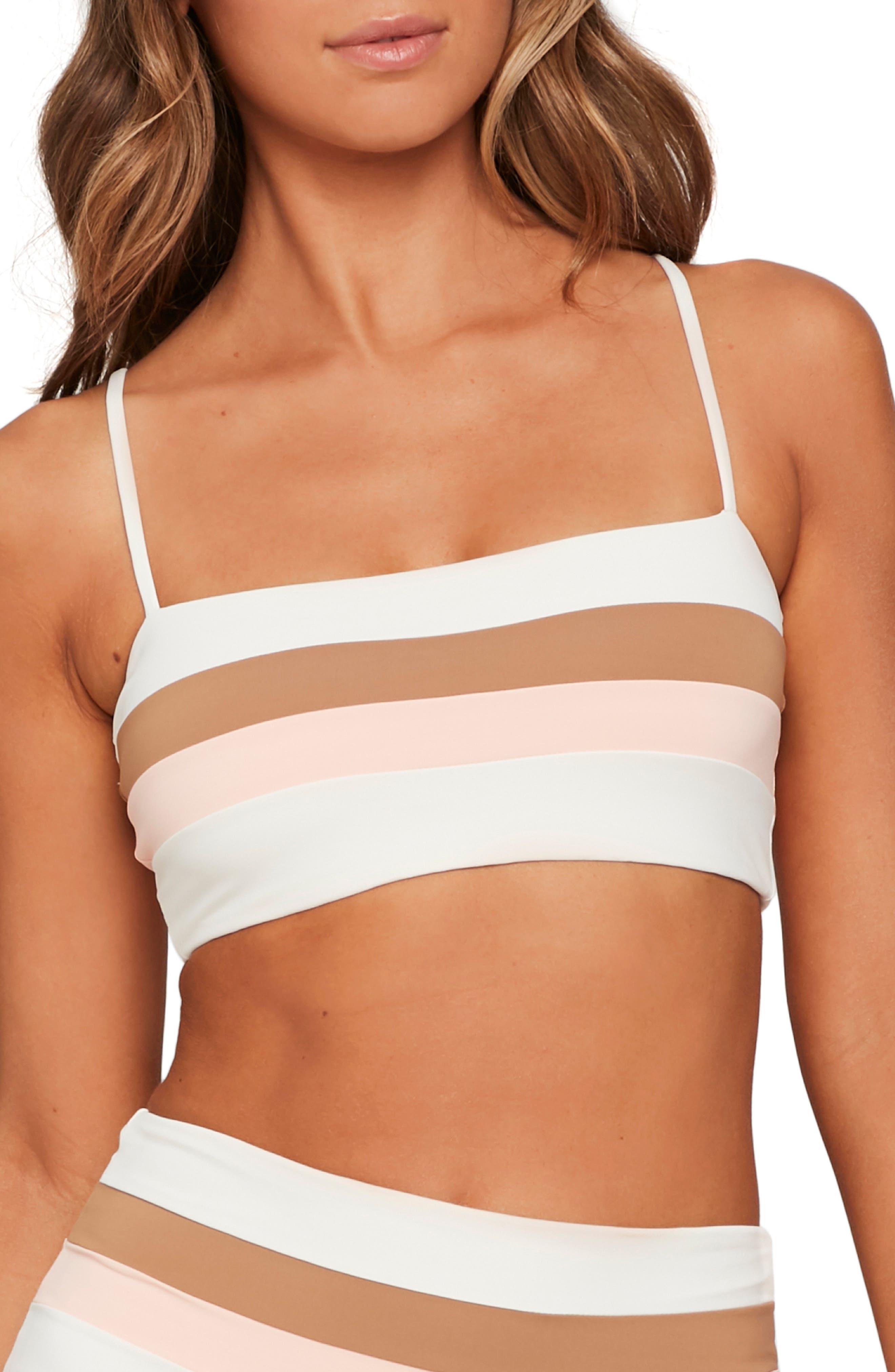 L Space Rebel Stripe Bikini Top