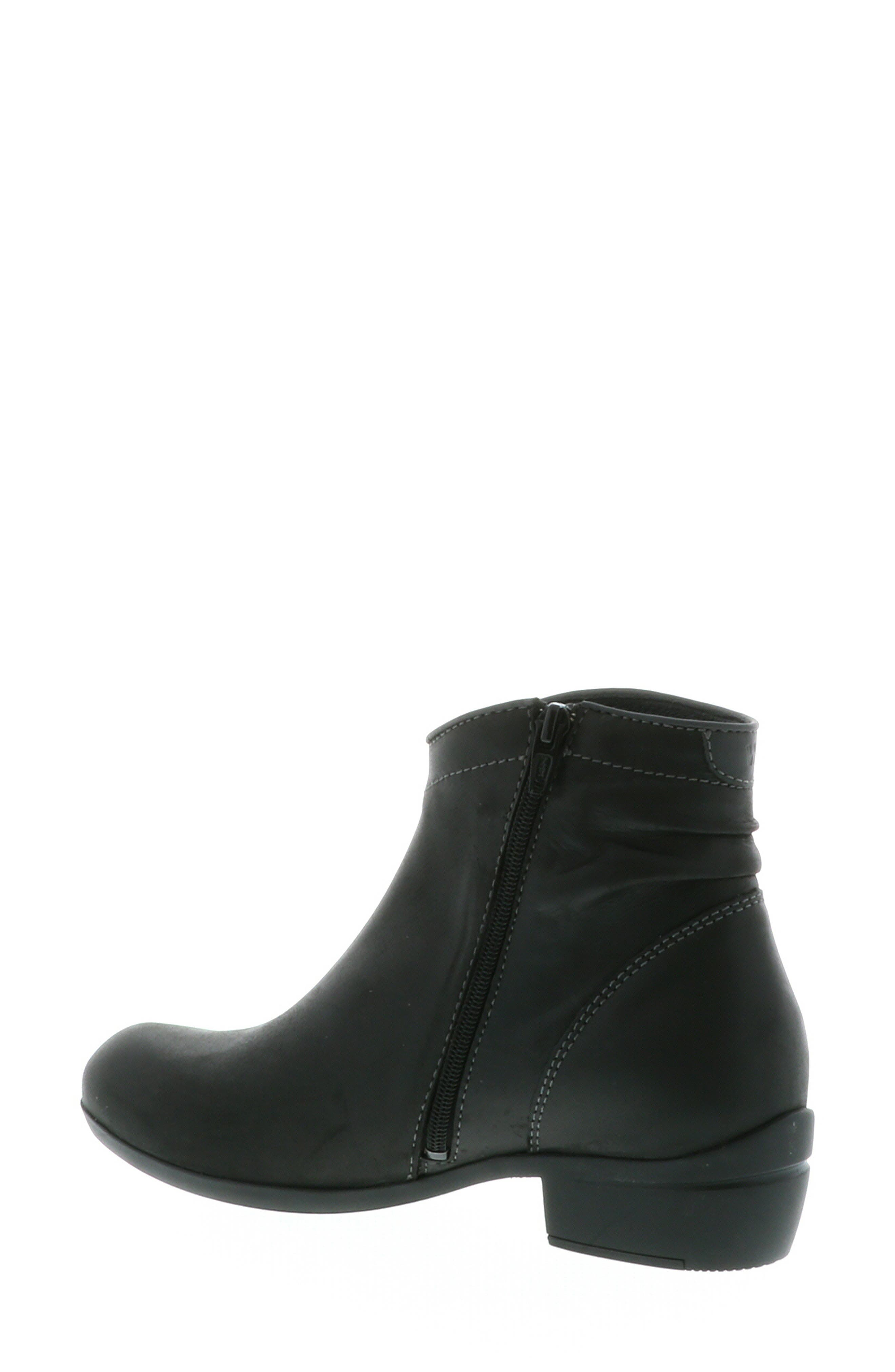 ,                             Winchester Bootie,                             Alternate thumbnail 9, color,                             BLACK/ BLACK LEATHER
