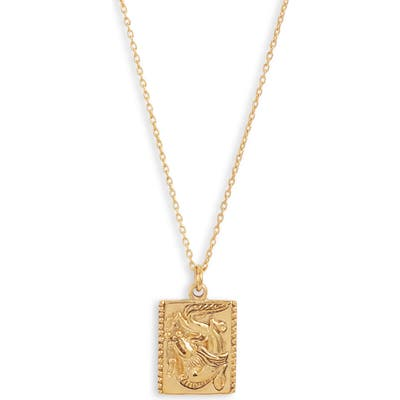 Sterling Forever Dragon Square Pendant Necklace