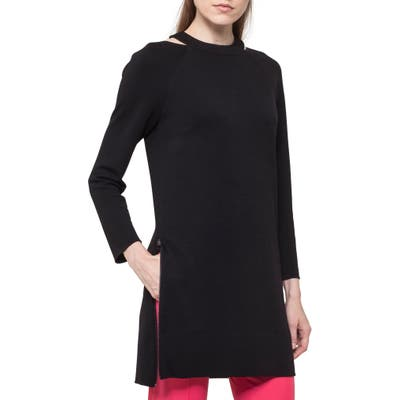 Akris Punto Choker Neck Tunic Dress, Black