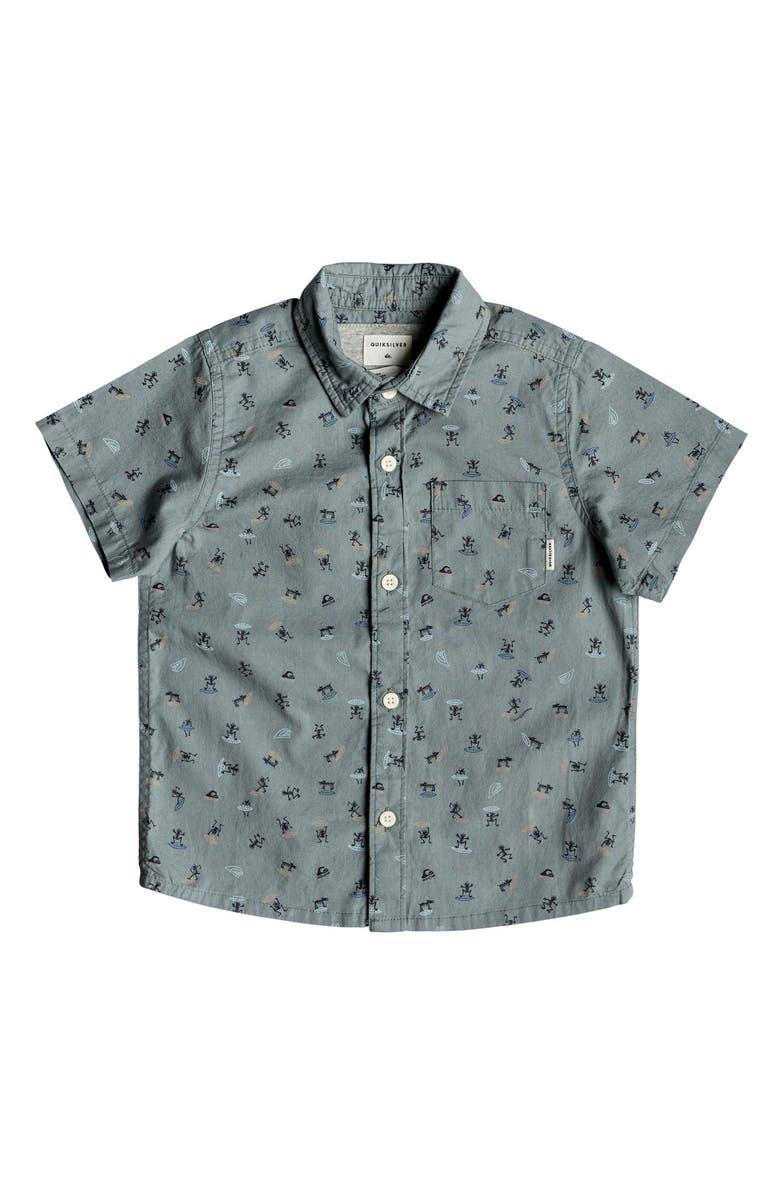 QUIKSILVER Mini Motif Shirt, Main, color, STORMY SEA WARDOG