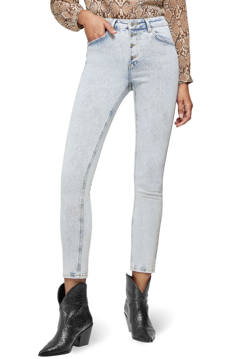 ANINE BING Frida Button Fly Jeans, Main, color, LIGHT BLUE