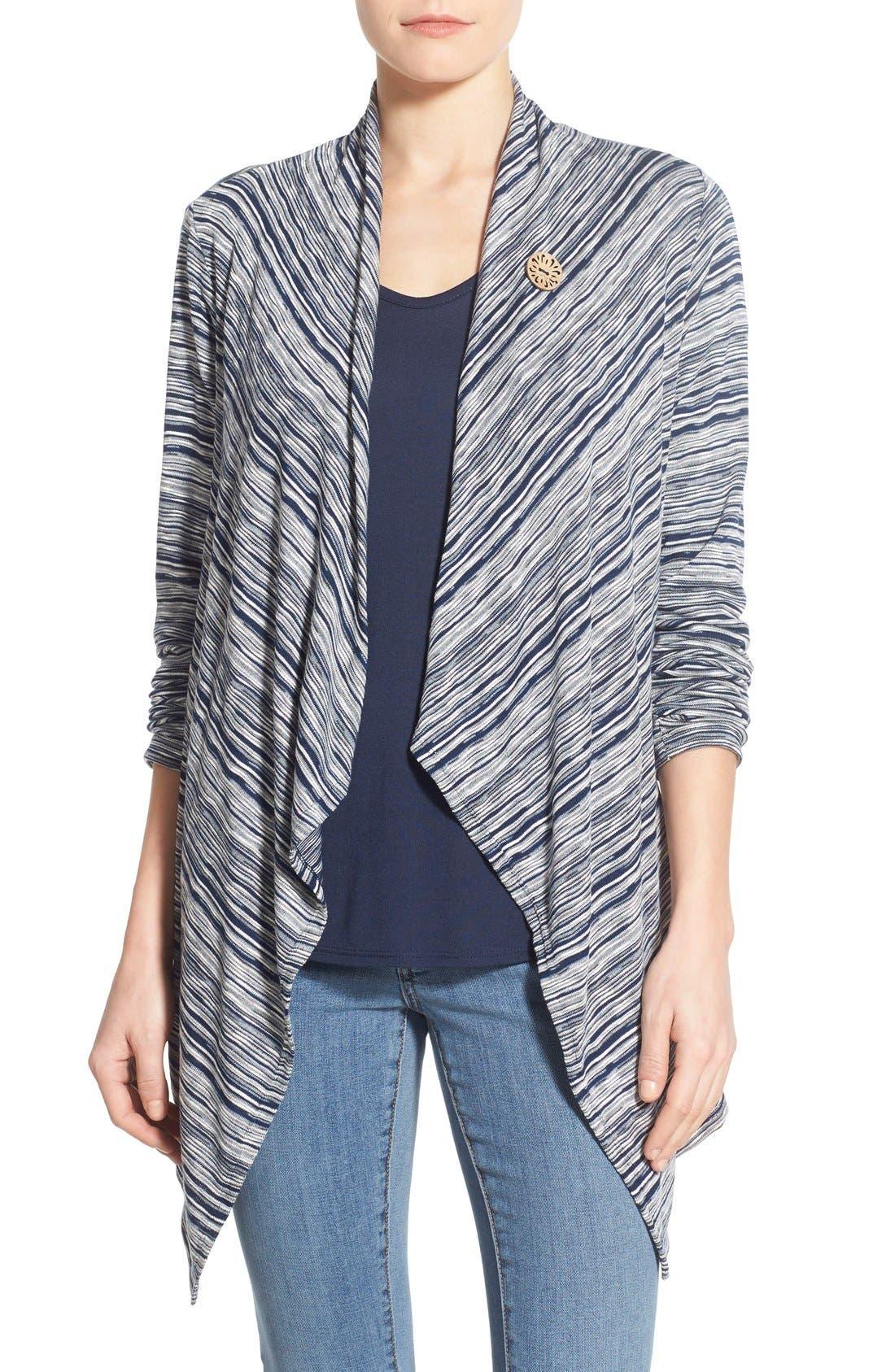 ,                             One-Button Fleece Wrap Cardigan,                             Main thumbnail 164, color,                             486