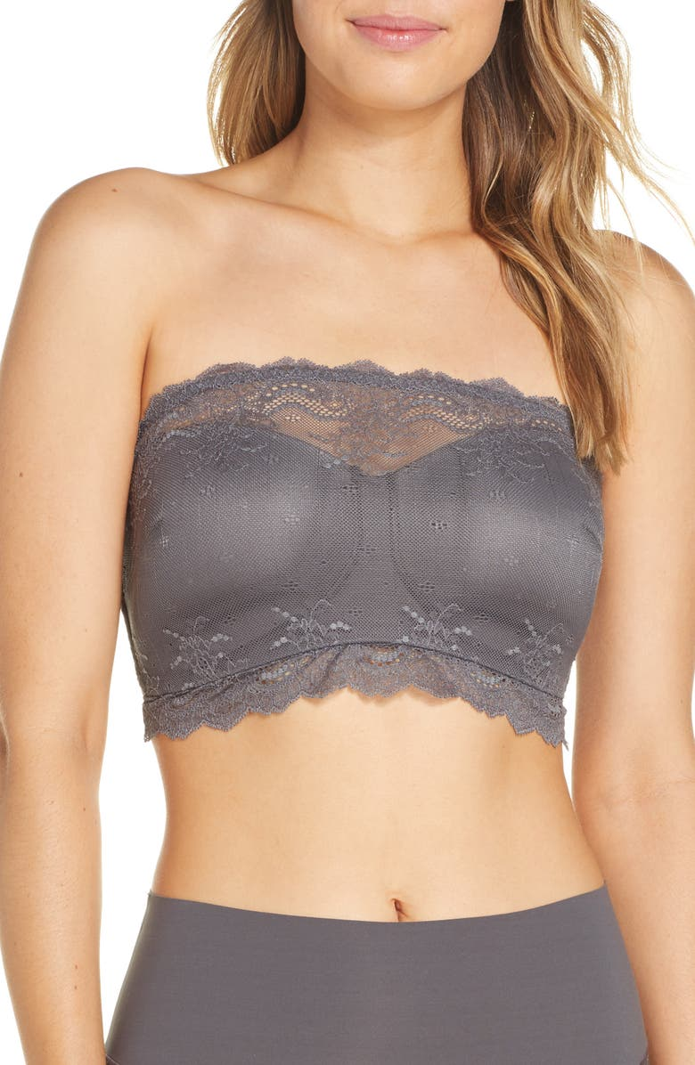 SPANX<SUP>®</SUP> Undie-Tectable Bandeau Bra, Main, color, CHROME GREY