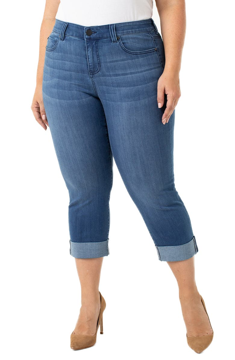 LIVERPOOL Charlie Wide Cuff Crop Jeans, Main, color, HARLOW