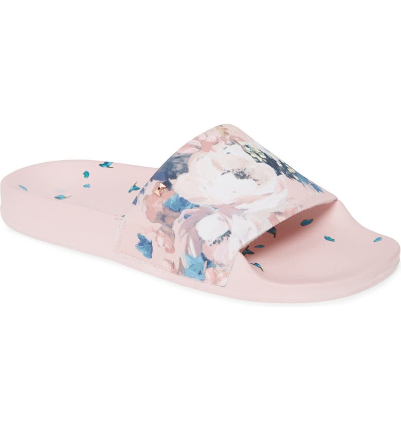 TED BAKER LONDON Avelini Slide Sandal, Main, color, PINK TEXTILE