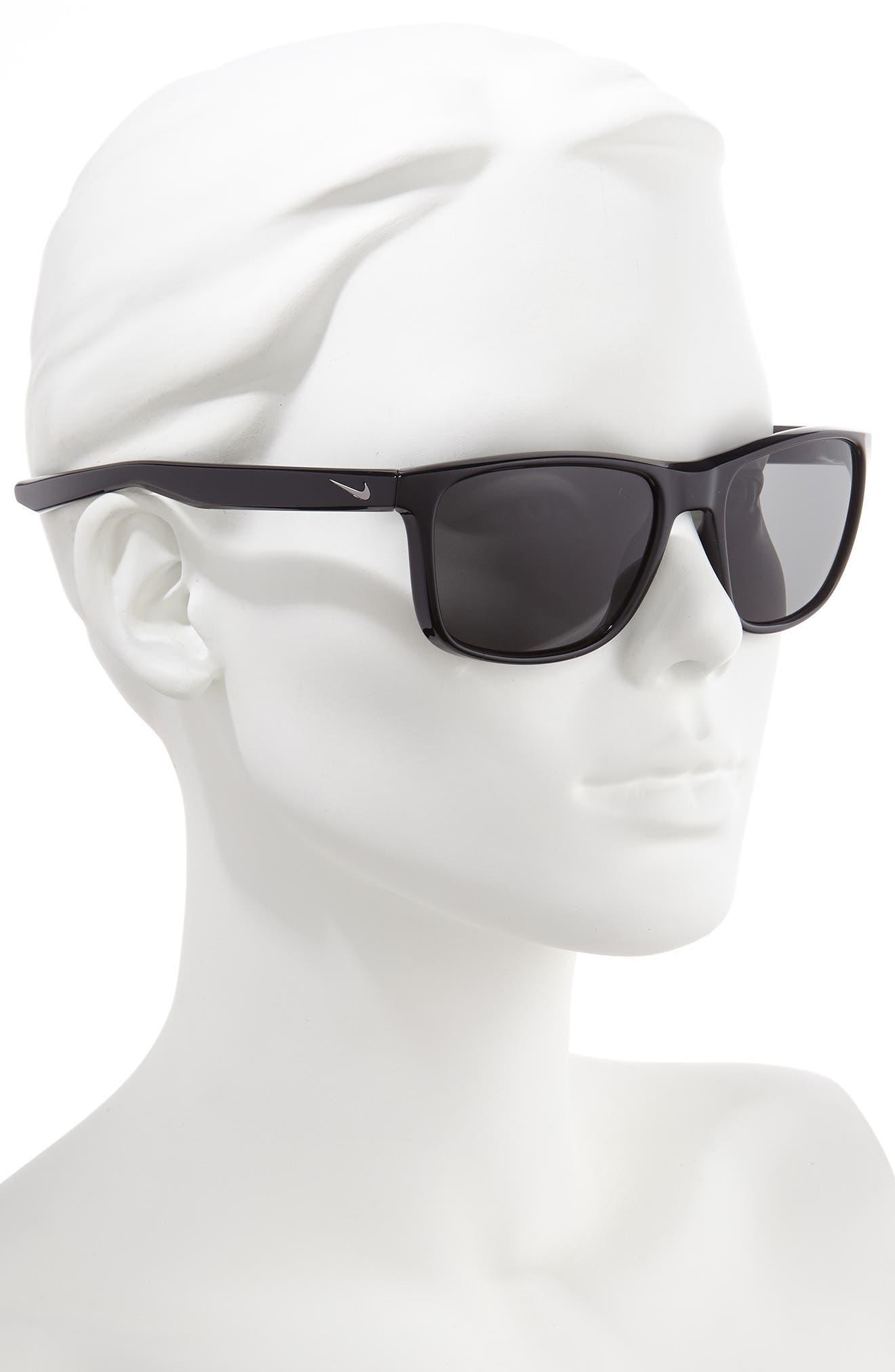 ,                             Essential Endeavor 57mm Square Sunglasses,                             Alternate thumbnail 2, color,                             BLACK/ GREY