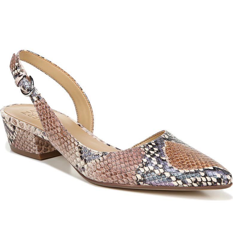 NATURALIZER Banks Slingback Pump, Main, color, PASTEL SNAKE LEATHER