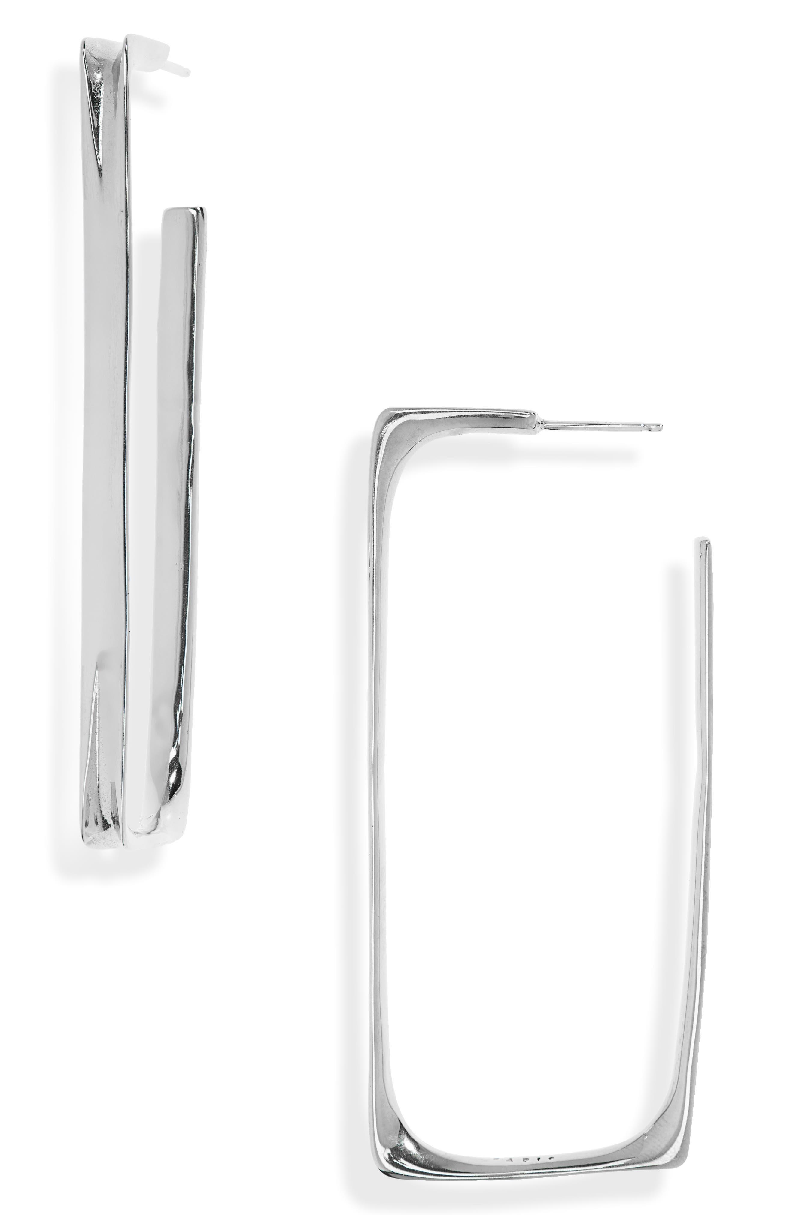 Small Frame Hoop Earrings