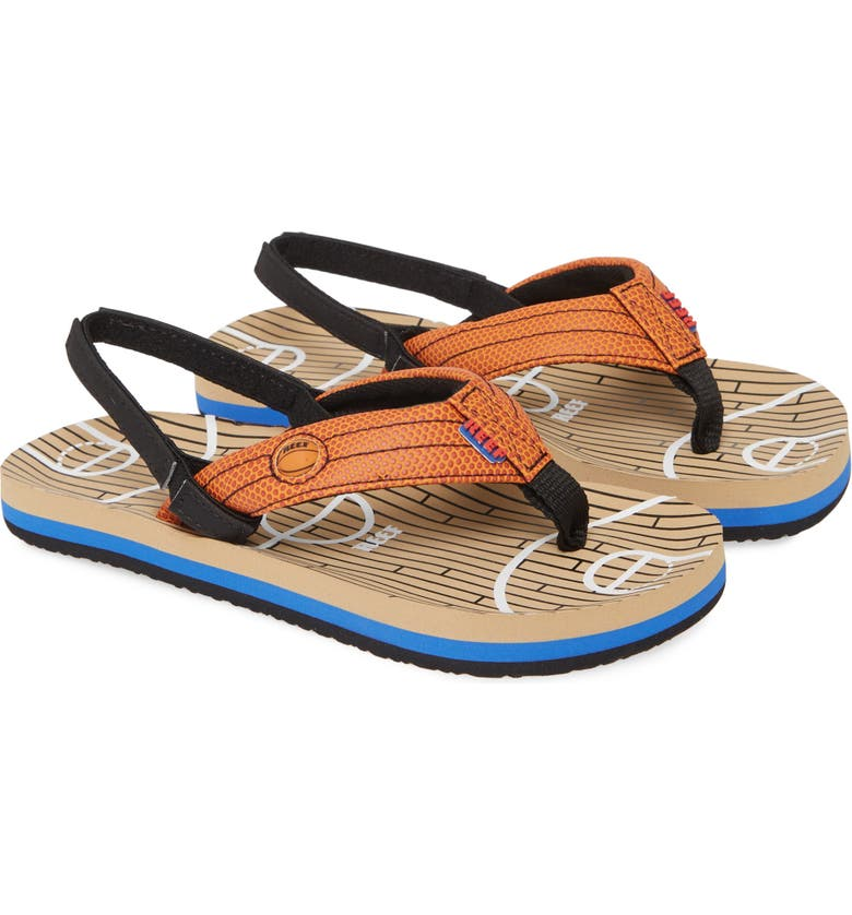 REEF Little Ahi Sports Thong Sandal, Main, color, HOOPS