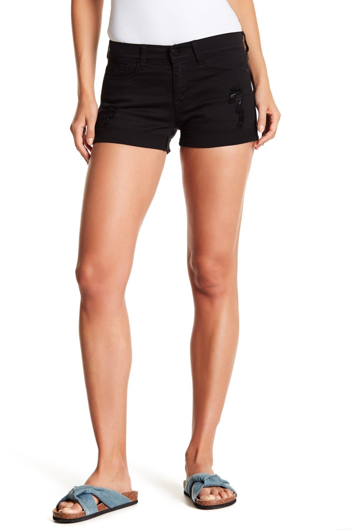 Image of SP BLACK Rolled Cuff Boyfriends Shorts