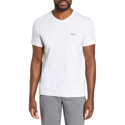 Boss Teevn Regular Fit V-Neck T-Shirt, Grey