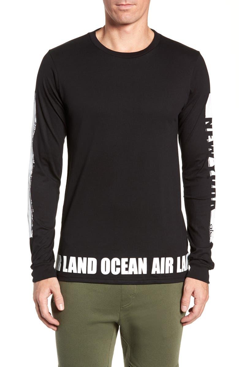 ALO Fairfax Long Sleeve T-Shirt, Main, color, NEW YORK