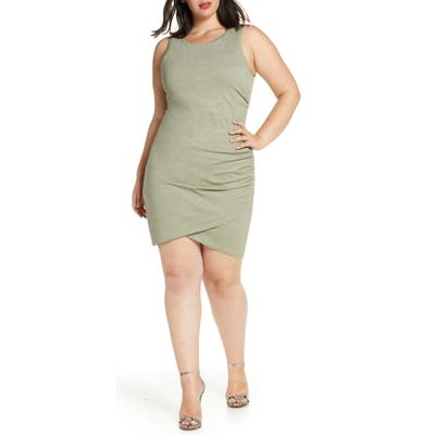 Plus Size Leith Ruched Sheath Dress, Green