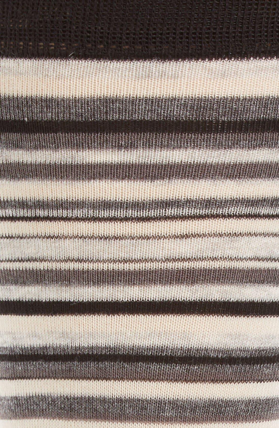 ,                             Town Stripe Crew Socks,                             Alternate thumbnail 3, color,                             BLACK/ STORM CLOUD