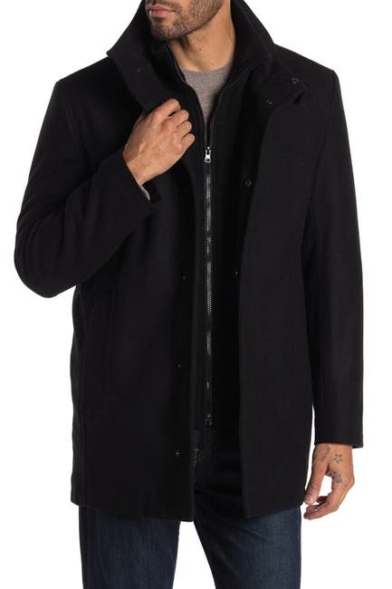 Image of Andrew Marc Coyle Wool Blend Bib Coat