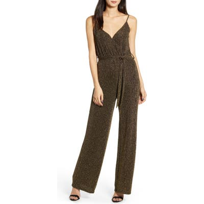 Cupcakes And Cashmere Florence Metallic Jumpsuit, Black