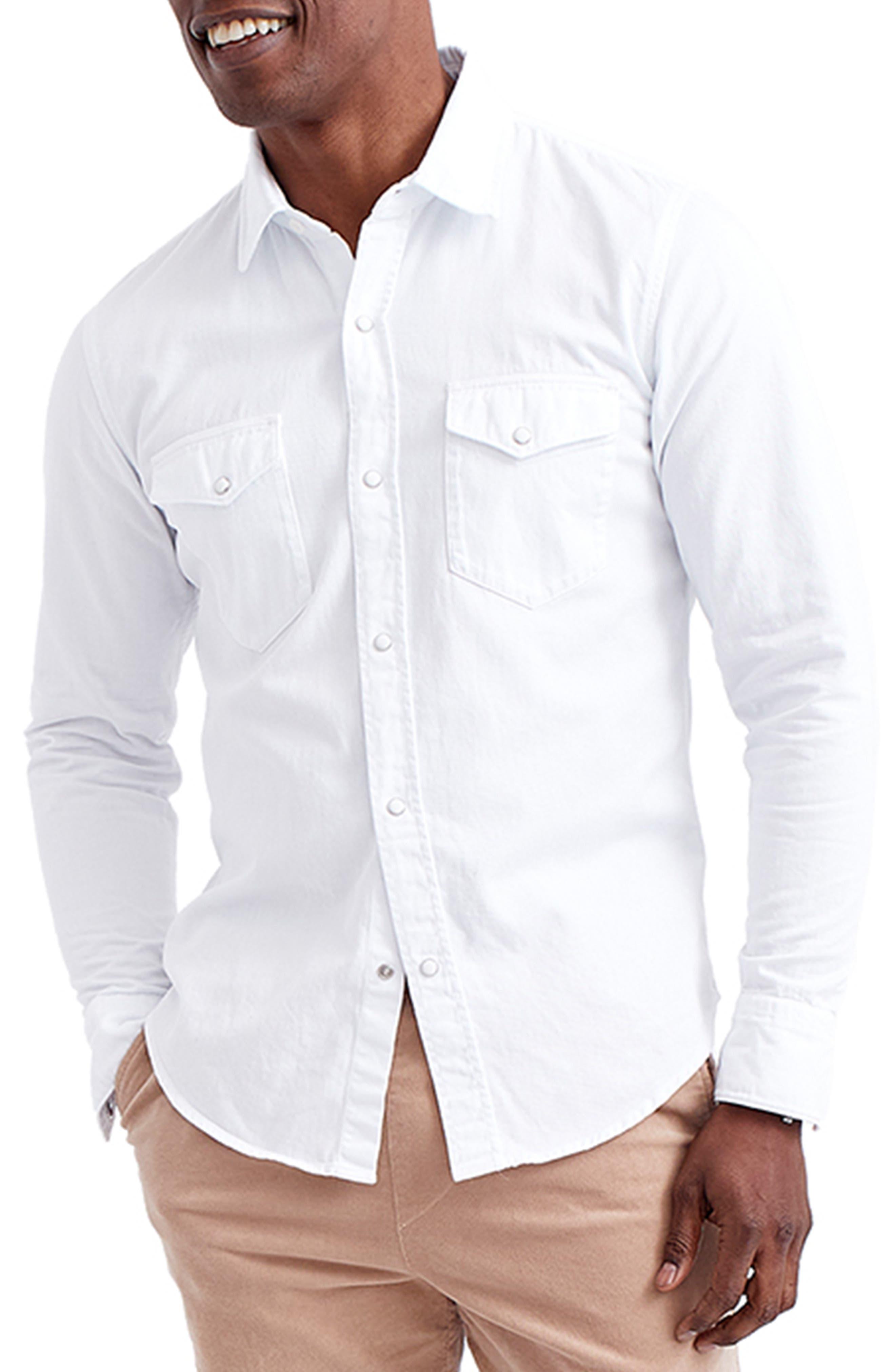 Denim Snap Front Shirt
