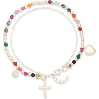 Lesa Michele Cross Charm Bracelet