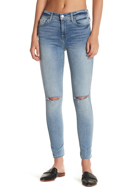 Image of 7 For All Mankind Knee Slit Ankle Jeans