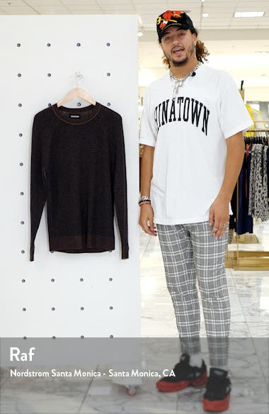 Slim Fit Waffle Crewneck Cashmere Sweater, sales video thumbnail