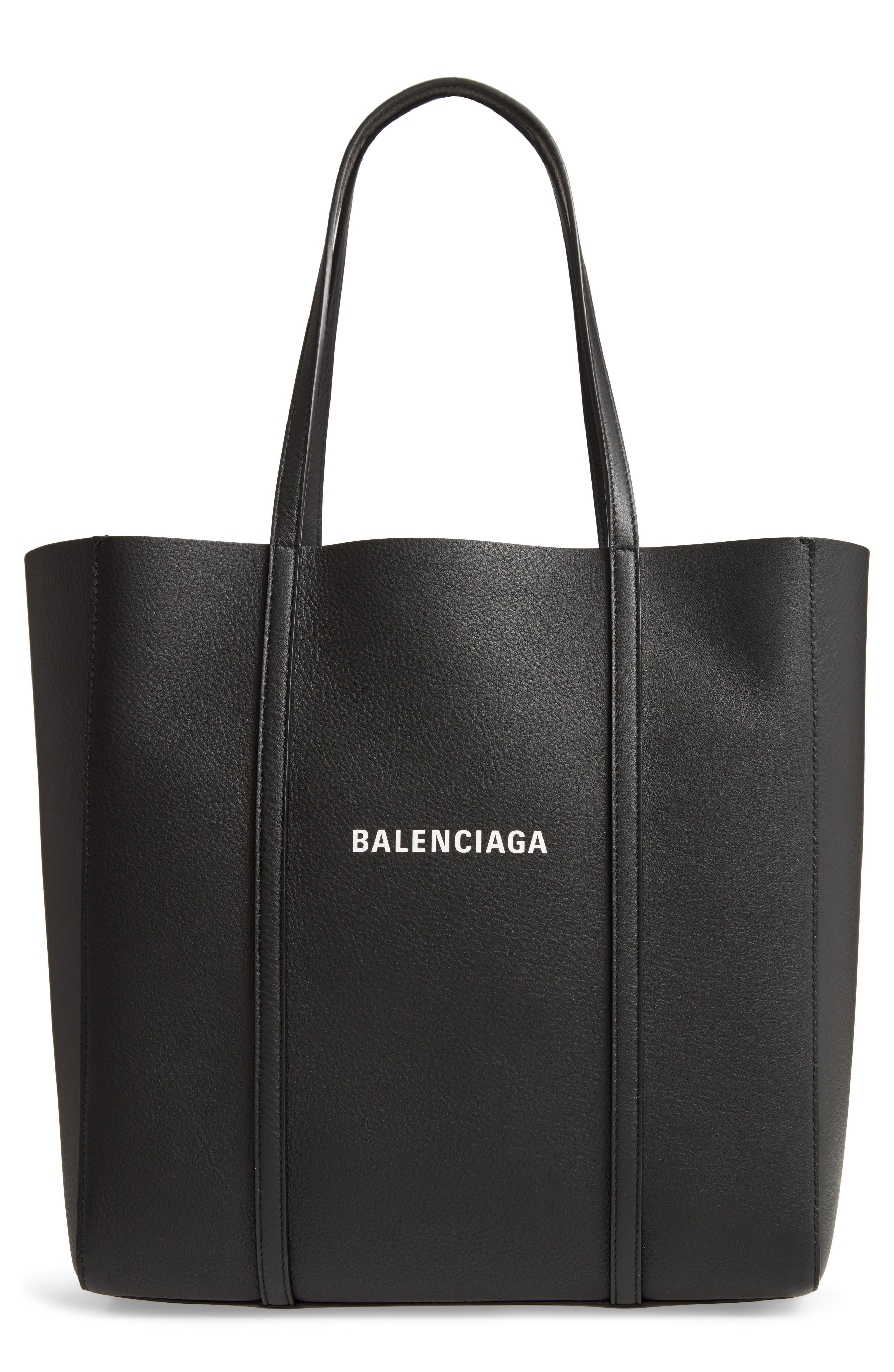 Balenciaga Small Everyday Logo Calfskin Tote   Nordstrom