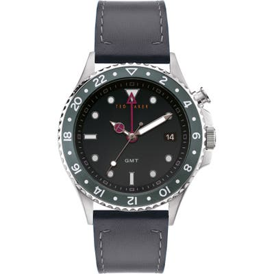 Ted Baker London Oldfash Leather Strap Watch, 4m