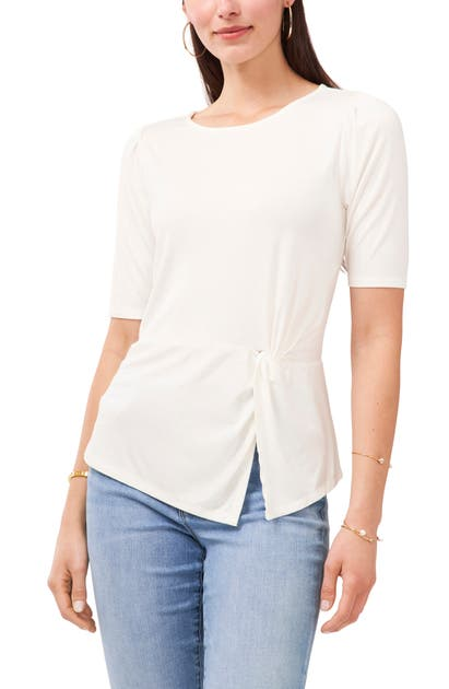 Vince Camuto Tops SIDE TWIST ELBOW SLEEVE TOP
