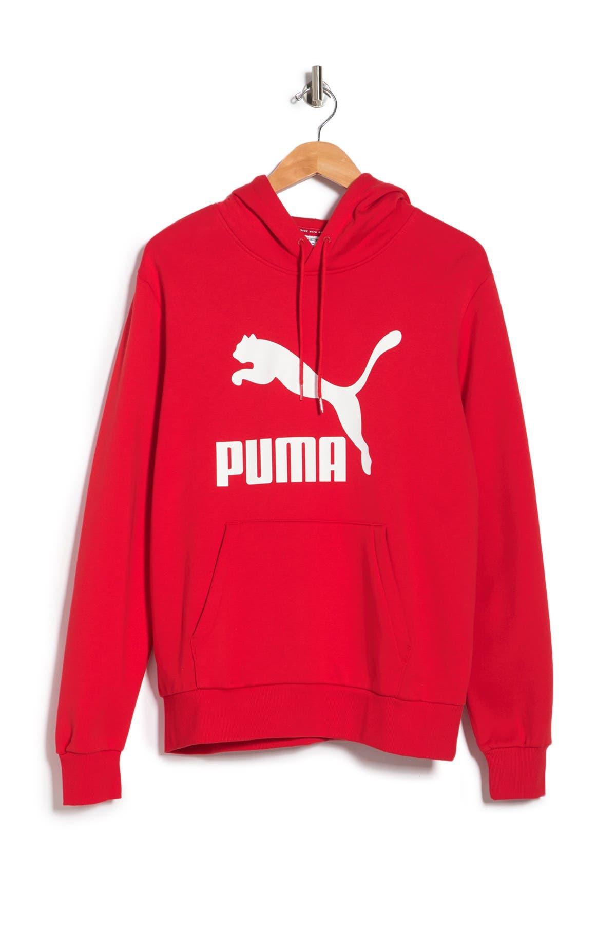 Image of PUMA Classics Logo Fleece Pullover Hoodie