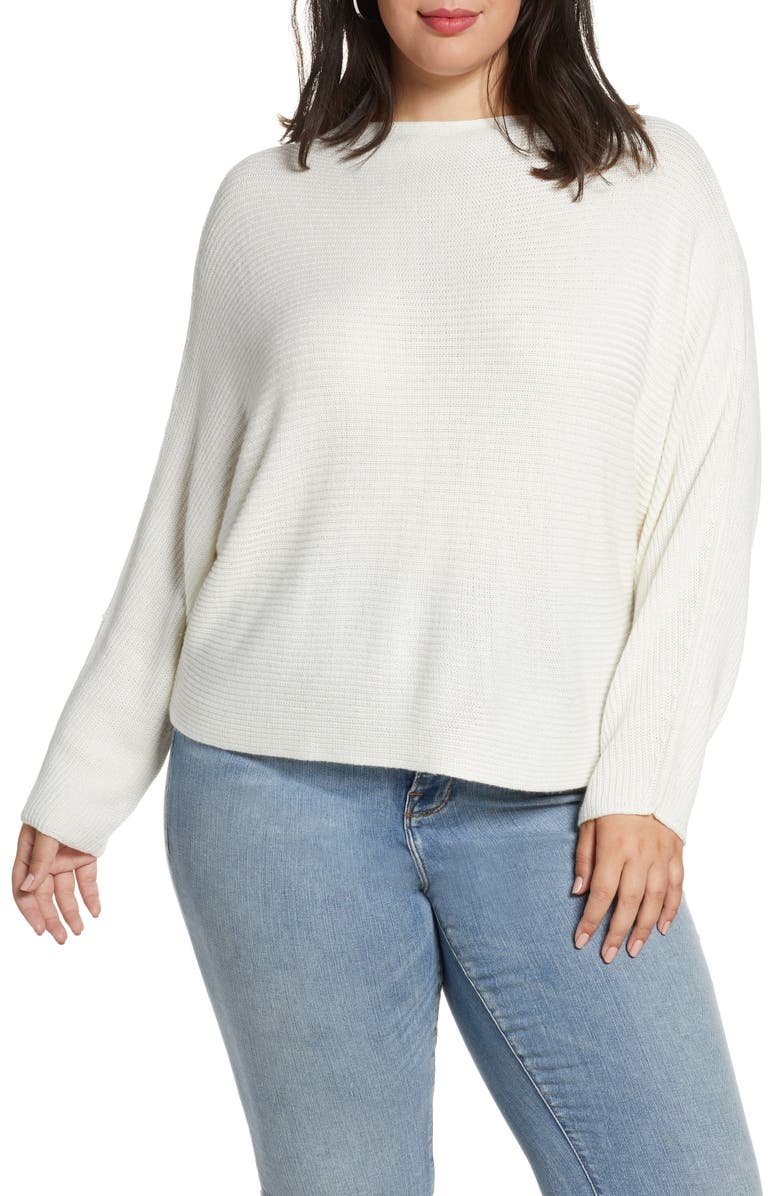 LEITH Dolman Sleeve Sweater, Main, color, IVORY