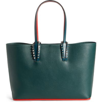 Christian Louboutin Small Cabata Calfskin Leather Tote - Green