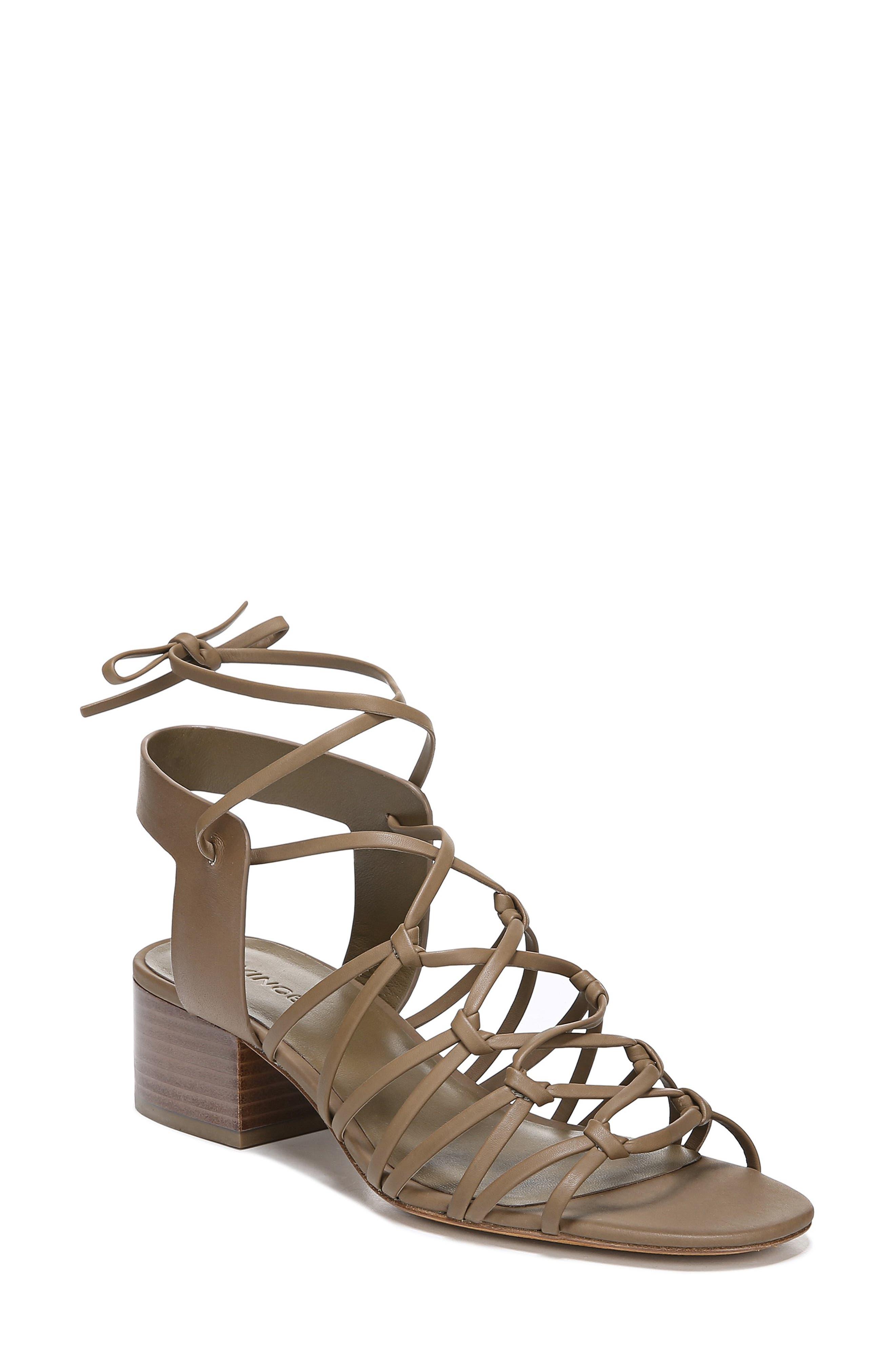 Vince Beautmont Lace-Up Sandal- Grey