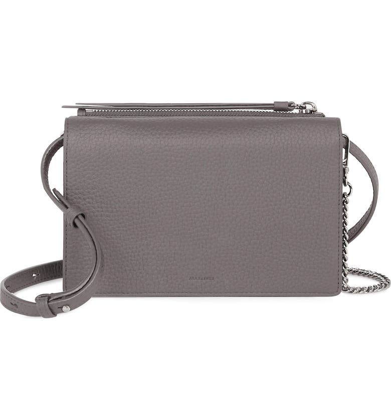 ALLSAINTS Fetch Crossbody Bag, Main, color, STORM GREY