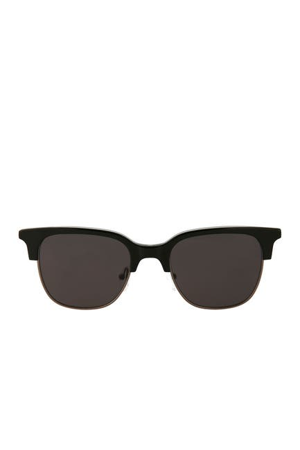Image of Tomas Maier 50mm Acetate Metal Frame Clubmaster Sunglasses