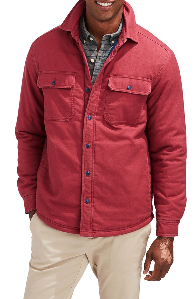 VINEYARD VINES Slopeside Shirt Jacket, Main, color, RED EARTH