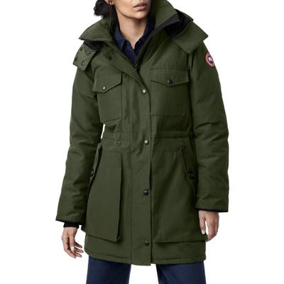 Canada Goose Gabriola Water Resistant Arctic Tech 625 Fill Power Down Parka, (2-4) - Green