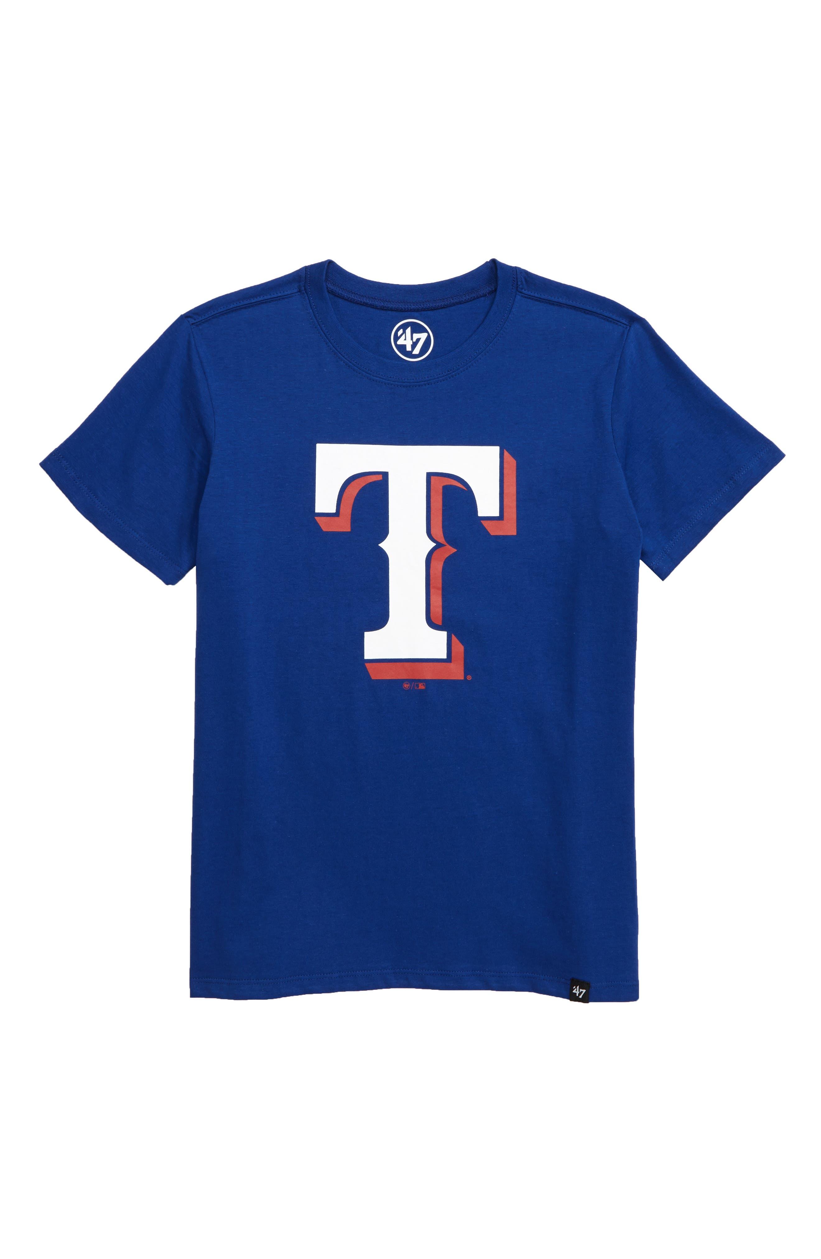 ,                             Super Rival Texas Rangers T-Shirt,                             Main thumbnail 1, color,                             ROYAL