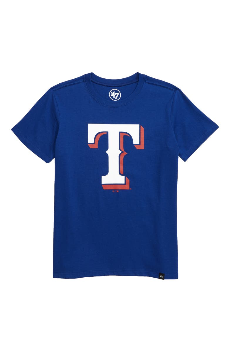 '47 Super Rival Texas Rangers T-Shirt, Main, color, ROYAL