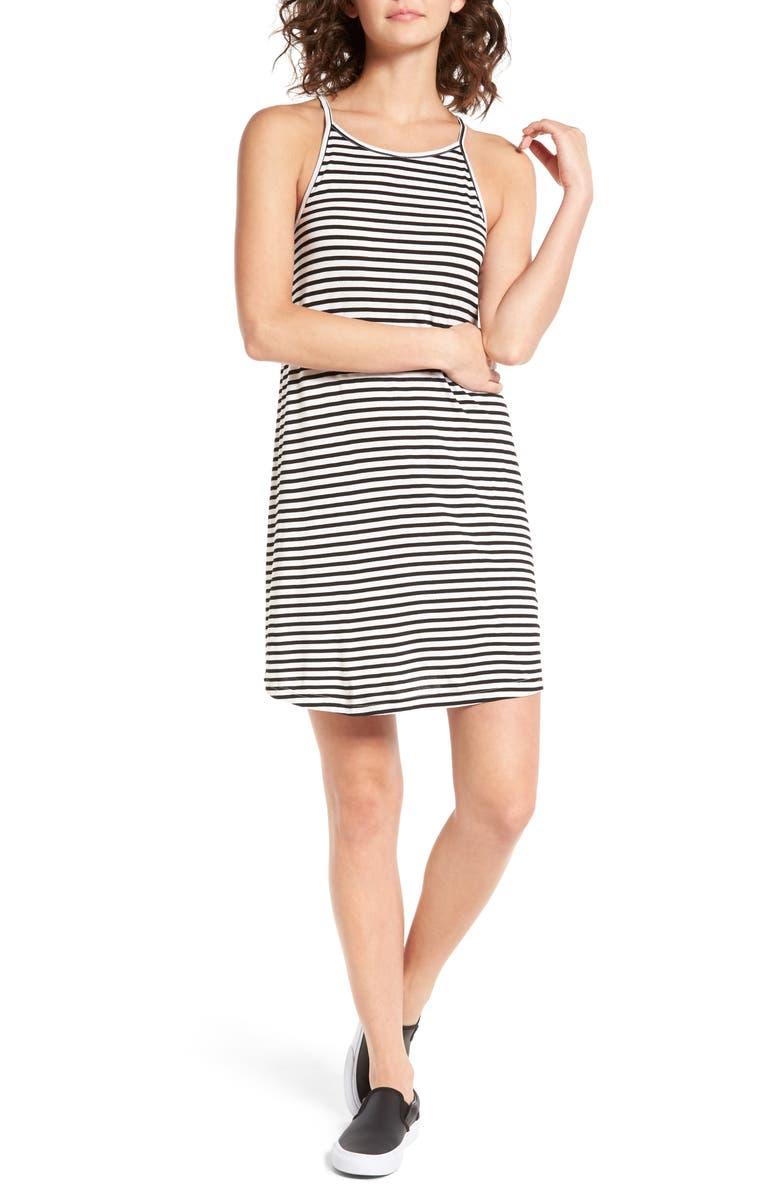 ROXY I Did Didn't Stripe Dress, Main, color, 101