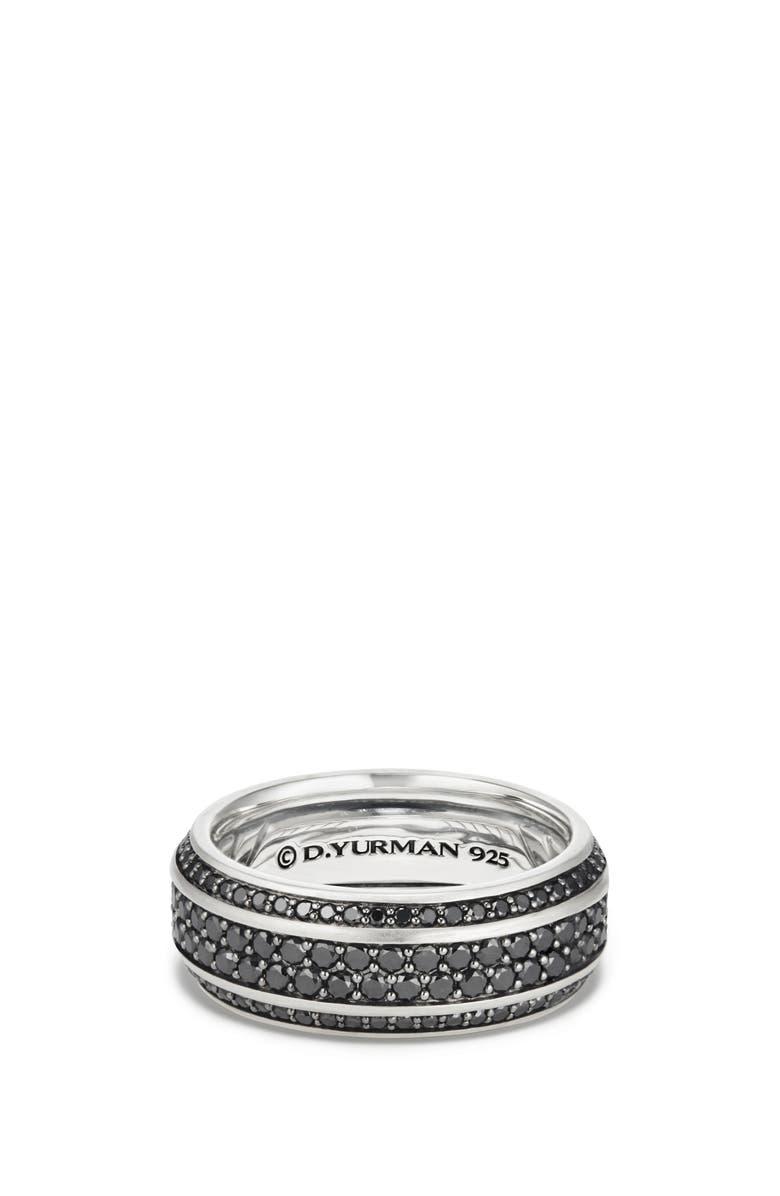 DAVID YURMAN Streamline Beveled Edge Band Ring, Main, color, BLACK DIAMOND