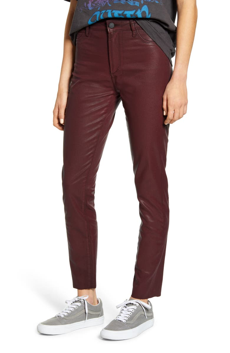 ARTICLES OF SOCIETY Hilary Coated High Waist Ankle Skinny Jeans, Main, color, MASSIVE