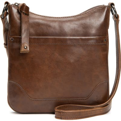 Frye Melissa Swing Leather Crossbody Bag - Brown