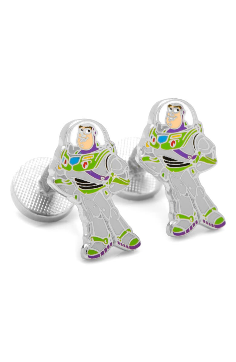 CUFFLINKS, INC. Buzz Lightyear Cuff Links, Main, color, METALLIC SILVER