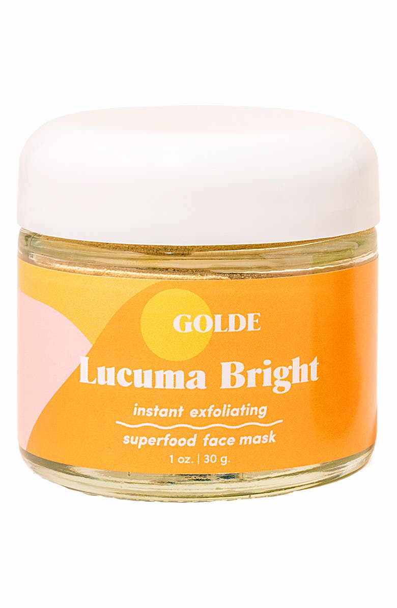 GOLDE Lucuma Bright Instant Exfoliating Superfood Face Mask, Main, color, 000