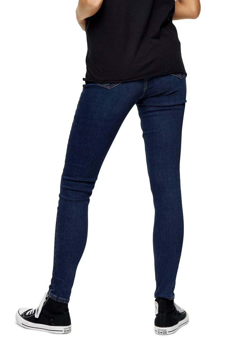 TOPSHOP Jamie Under the Bump Maternity Skinny Jeans, Main, color, INDIGO